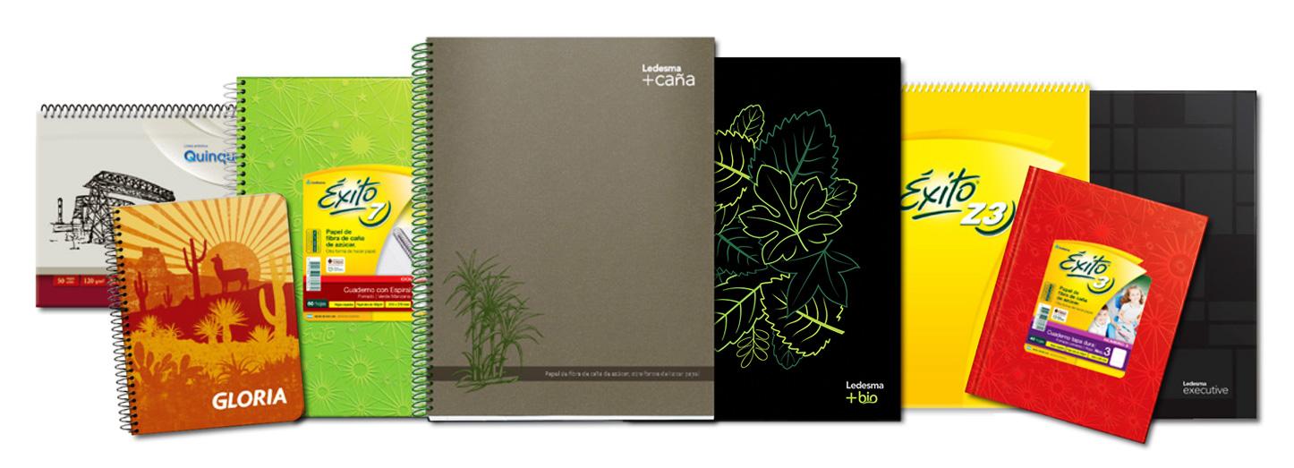 Familia de productos - Cuadernos anillados y tapa dura